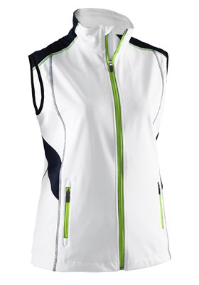 ABACUS LDS ABERDEEN SOFTSHELL VEST 100-WHITE S 22261001