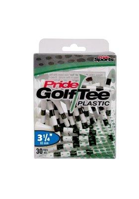 "Pride Golf Tee's 3.25"" BIAŁE W PASKI Plastik 30 sztuk"