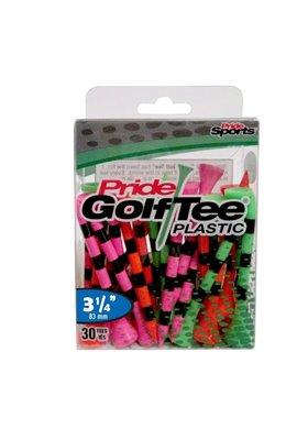 "Pride Golf Tee's 3.25"" CITRUS MIX W PASKI Plastik 30 sztuk"