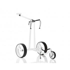 JuCad Phantom Carbon Biały - Elektryczny wózek golfowy