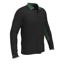 Polo z długim rękawem COLMAR Czarno-zielone