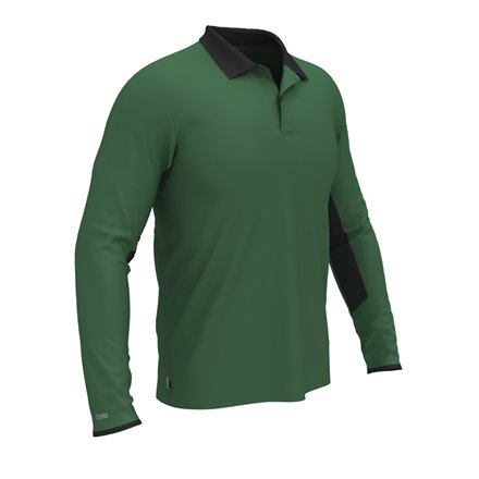 Colmar Polo Longsleeve GREEN/BLACK