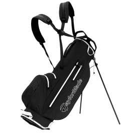 TaylorMade LiteTech Waterproof Stand Bag czarno-biała