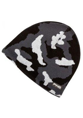 PING Camo Knit Beanie czarna