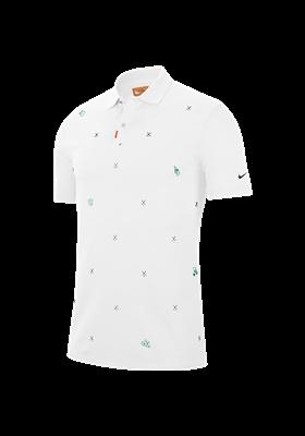 Koszulka polo NIKE GLF CHARMS SLIM white-obsidian-neptun green