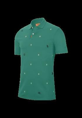 Koszulka polo NIKE GLF CHARMS SLIM neptune green-sail