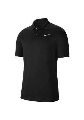Koszulka polo NIKE Dry VCTRY solid black-white