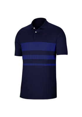 Koszulka polo NIKE Dry Vapor stripe blue void-deep royal blue