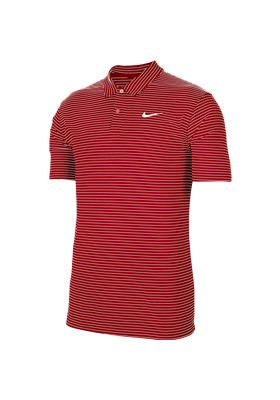 Koszulka polo NIKE Dry Essential stripe university red