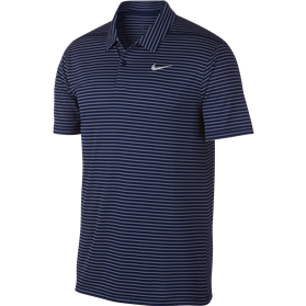 Koszulka polo NIKE Dry Essential stripe blue void-summit white