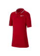 Koszulka polo juniorska Nike Dry VCTRY university red-white